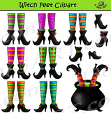 Witch Feet Clipart - Cute Halloween Witch Legs