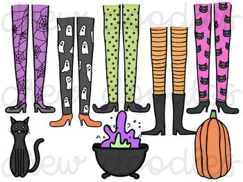 Witch Feet Digital Clip Art Set