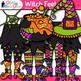 Halloween Clip Art {Witch Feet, Spider Web, Bat, Cat, Hat, Cauldron, and Broom}