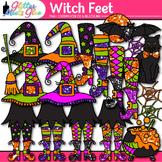 Witch Feet & Hat Clip Art: Halloween Graphics {Glitter Mee