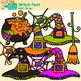 Halloween Clip Art {Witch Feet, Spider Web, Bat, Cat, Hat,