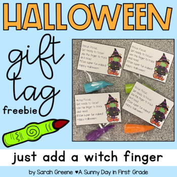 Witch Finger Gift Tag! {freebie}