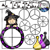 Witch Spinner Games Clipart Bundle