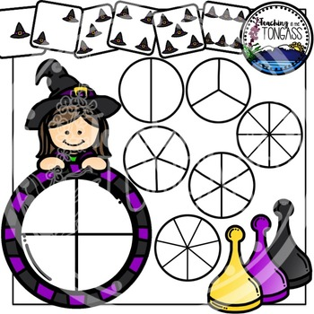 Witch Clipart Bundle Spinner Games
