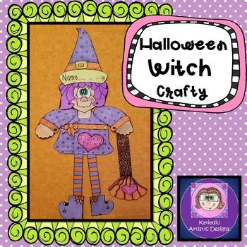 Witch Halloween craft
