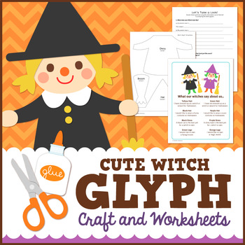 Halloween Witch Glyph Craft and Worksheets
