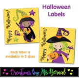 Witch Halloween Labels | Halloween Tags