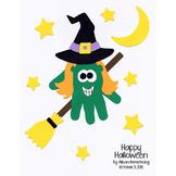 Witch Handprint Craftivity (Halloween)