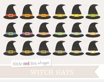 Witch Hat Clipart; Halloween, Broom