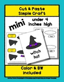 Witch Hat - Cut & Paste Craft - Mini Craftivity for Pre-K