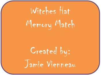 Witch Hat: Halloween Fun Memory Match