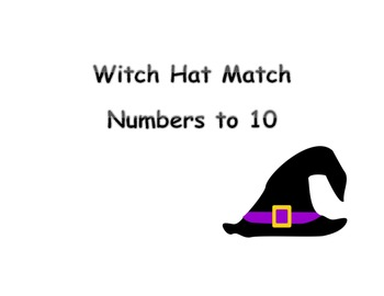 Witch Hat Number Match to 10