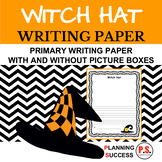 Witch Hat: Primary Writing Paper with Drawing Boxes and Without