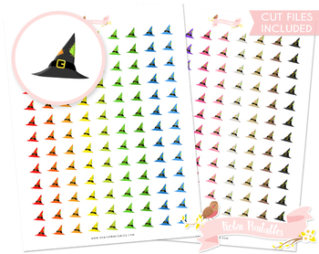 graphic about Witch Hat Printable titled Witch Hat Printable Planner Stickers
