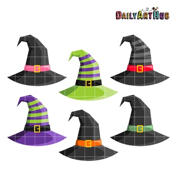 Witch Hats Clip Art - Great for Art Class Projects!
