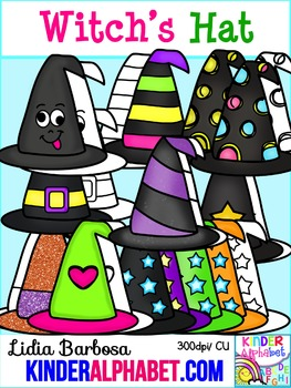 Witch Hats { Clip Art for Teachers }