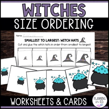 Witch Hats Size Ordering (From Smallest to Largest)