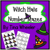 Witch Hats Number Mazes ~ Math Games ~ Math Centers