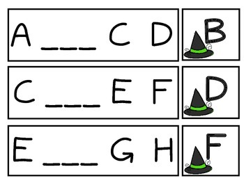 Witch Hunt: Alphabet Letter Sequence