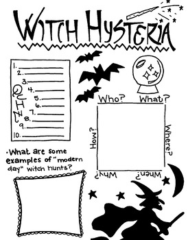Witch Hysteria (Salem Witch Trials/Halloween)