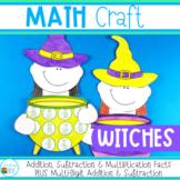 Halloween Math Craft - witches