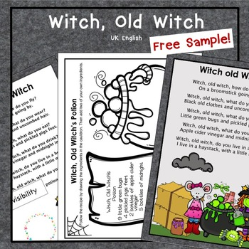 Free Witch, Old Witch Sample Halloween AUS UK