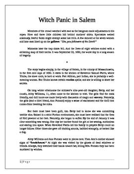 Witch Panic in Salem