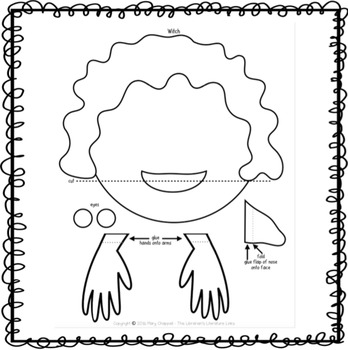 Witch Paper Bag Puppet FREEBIE