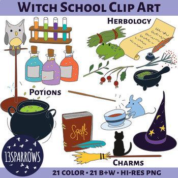 Witch School Clip Art