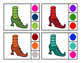 Witch Shoes Color Clip Cards
