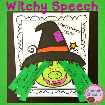 Witchy Halloween Speech Therapy Craft {articulation craftivity}
