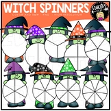 Witch Spinners Clip Art Set {Educlips Clipart}