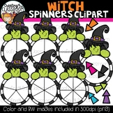 Witch Spinners Clipart Bundle {Halloween Clipart}
