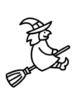 witch template witch outline halloween witch coloring page witch