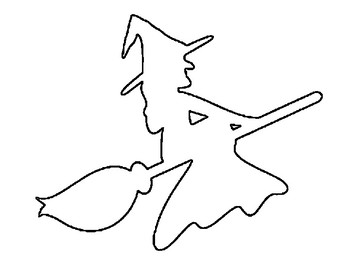 witch template witch outline halloween witch coloring page witch on