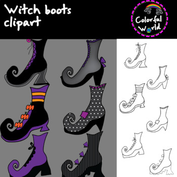 Witch boots clipart