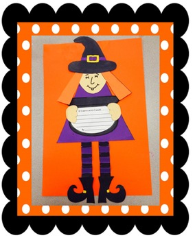 Witch craft writing activity Halloween