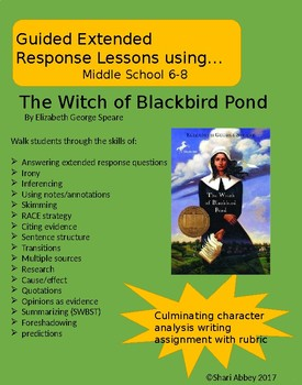 Witch of Blackbird Pond Extended Response Lessons