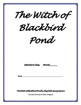 Witch of Blackbird Pond - Journal Entries Printable