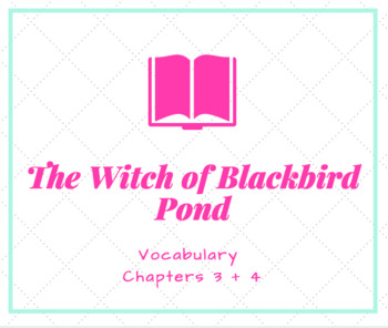 Witch of Blackbird Pond Vocabulary PowerPoint Chapters 3 + 4