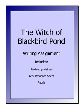 Witch of Blackbird Pond writing assignment - guidelines, rubric, etc.