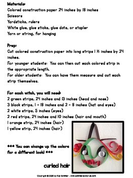 Witch {paper strip craft} FREE