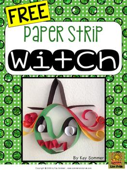 Witch {paper strip craft} FREE