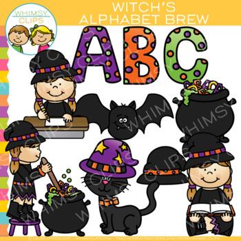 Witch's Alphabet Brew Halloween Clip Art