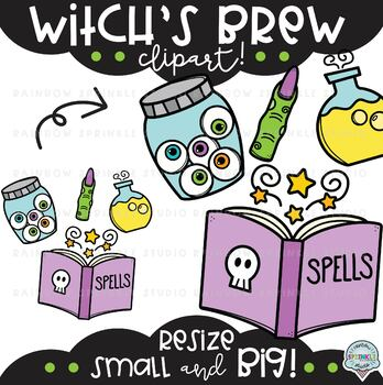 Witch S Brew Clipart Witch Clipart By Rainbow Sprinkle Studio Sasha Mitten