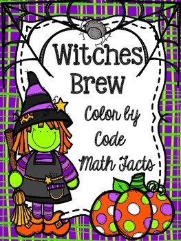 Witches Brew Color by the Code (FREEBIE)
