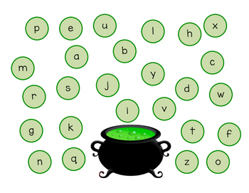 Witch's Brew Letter & Number Identification
