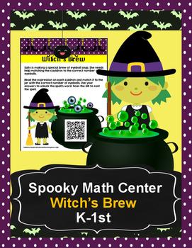 Witch's Brew Addition-Halloween Math Center