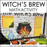 Witch's Brew - a Halloween Math and Writing Activity FREEBIE!