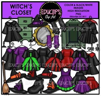 Witch's Closet Clip Art Bundle {Educlips Clipart}